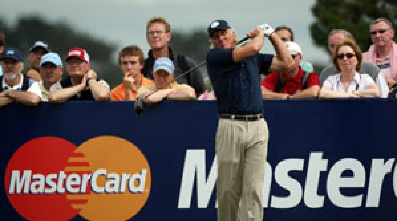 Greg Norman tied for third at the British Open.