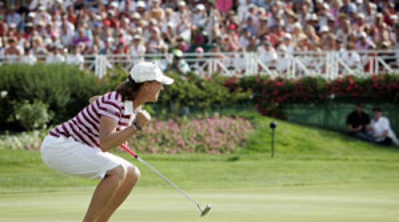Helen Alfredsson won the Evian Masters on the third playoff hole.