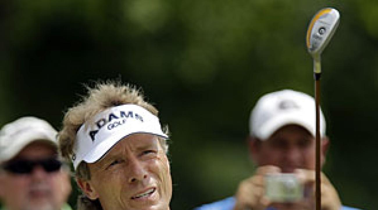 Earlier this year, Bernhard Langer spent four months recovering from thumb surgery.