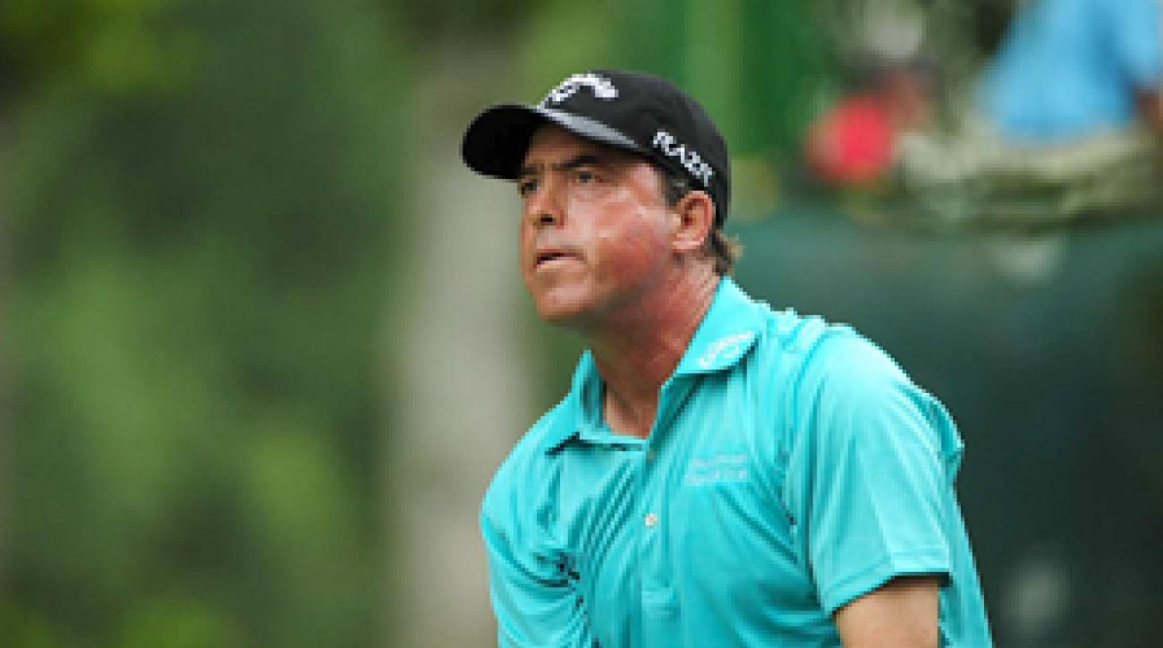 Olin Browne made five birdies, a bogey and a double bogey on Friday.
