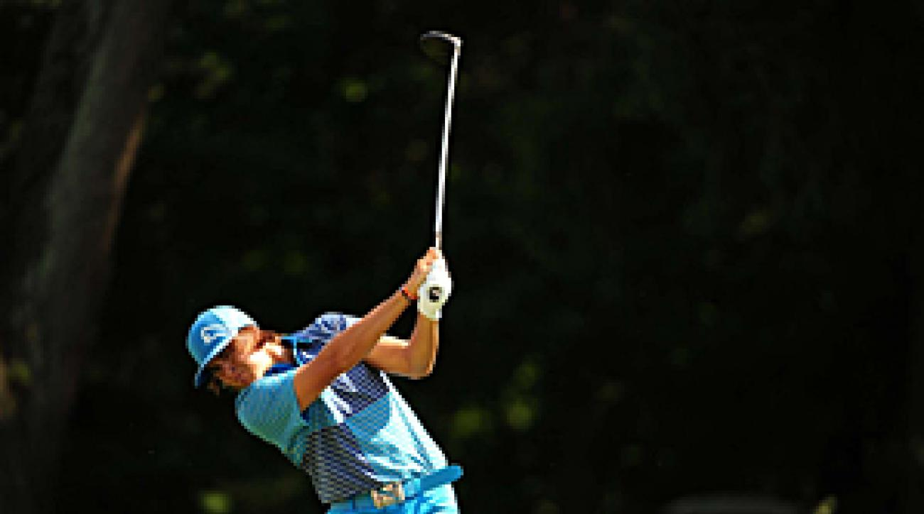 Rickie Fowler made seven birdies and one bogey on Saturday.