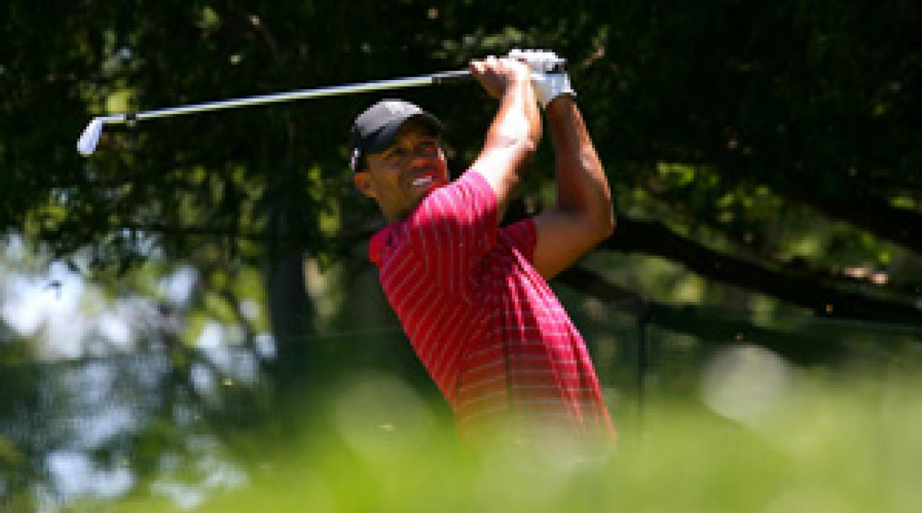Tiger Woods made three birdies and four bogeys on Saturday.