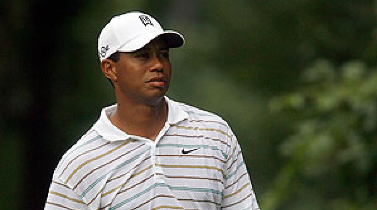 Woods shot an opening-round 73.