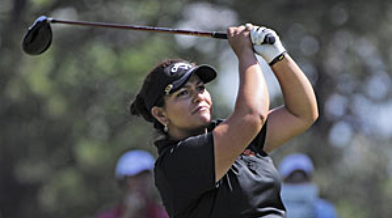 Lizette Salas is five shots off the lead with 36 holes left.