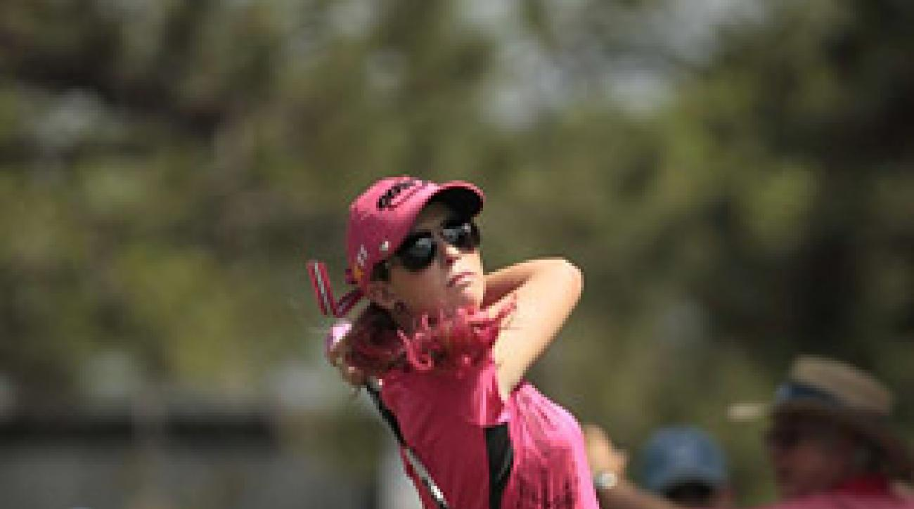 Defending champion Paula Creamer is only three shots behind current leader Stacy Lewis.