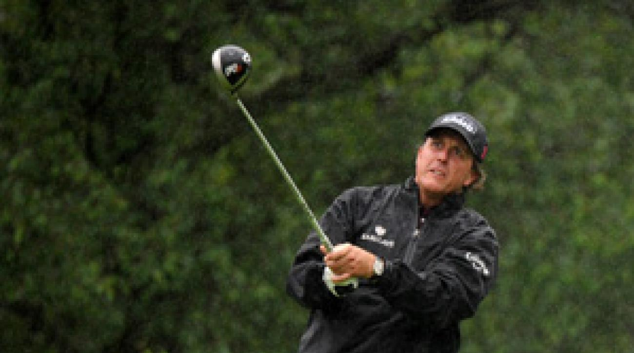 Phil Mickelson missed the cut by one stroke after rounds of 71-74.