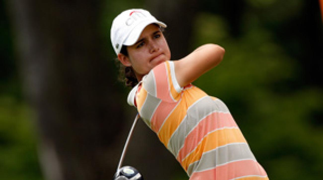Lorena Ochoa made four birdies and two bogeys on Thursday.