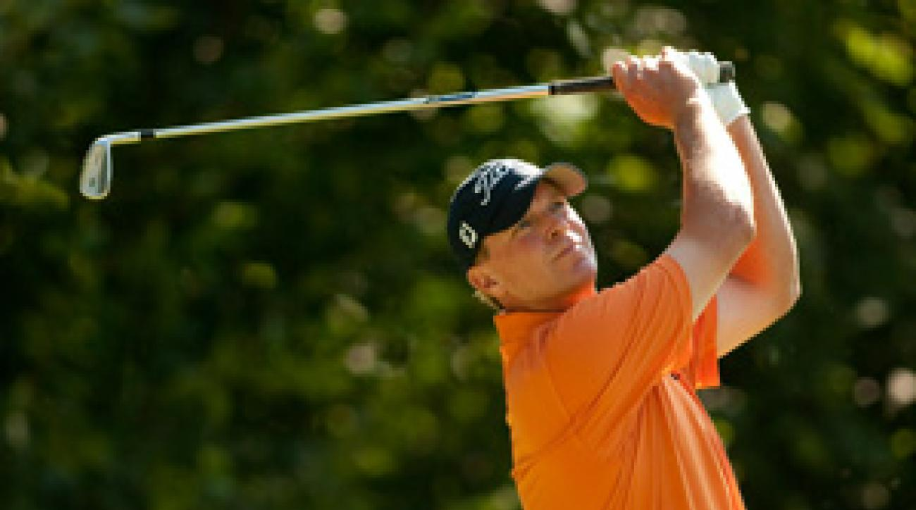 Steve Stricker made seven birdies and two bogeys on Friday.
