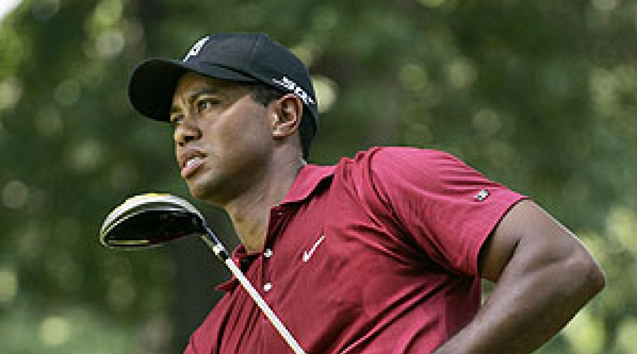 Woods finished at two under par.
