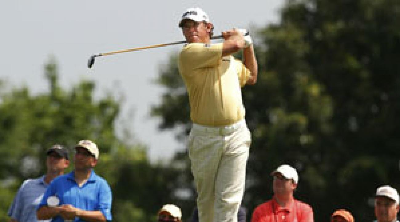 Lee Westwood made four birdies and two bogeys on Friday.