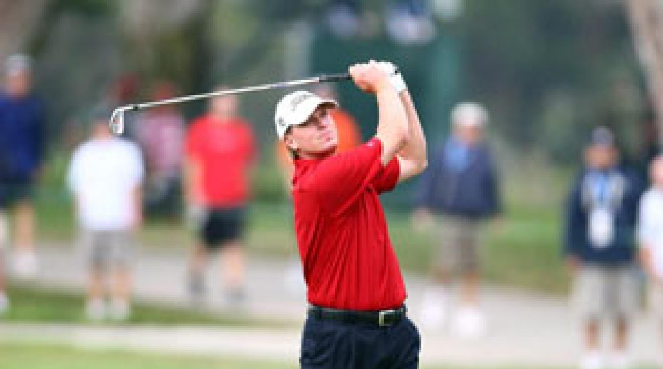 Steve Stricker shot a six-over 41 on his second nine.