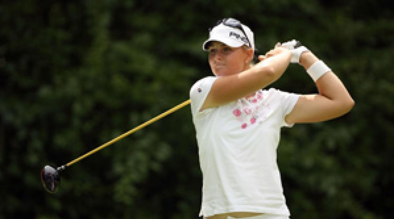Anna Nordqvist made three birdies and a bogey through 15 holes on Saturday.