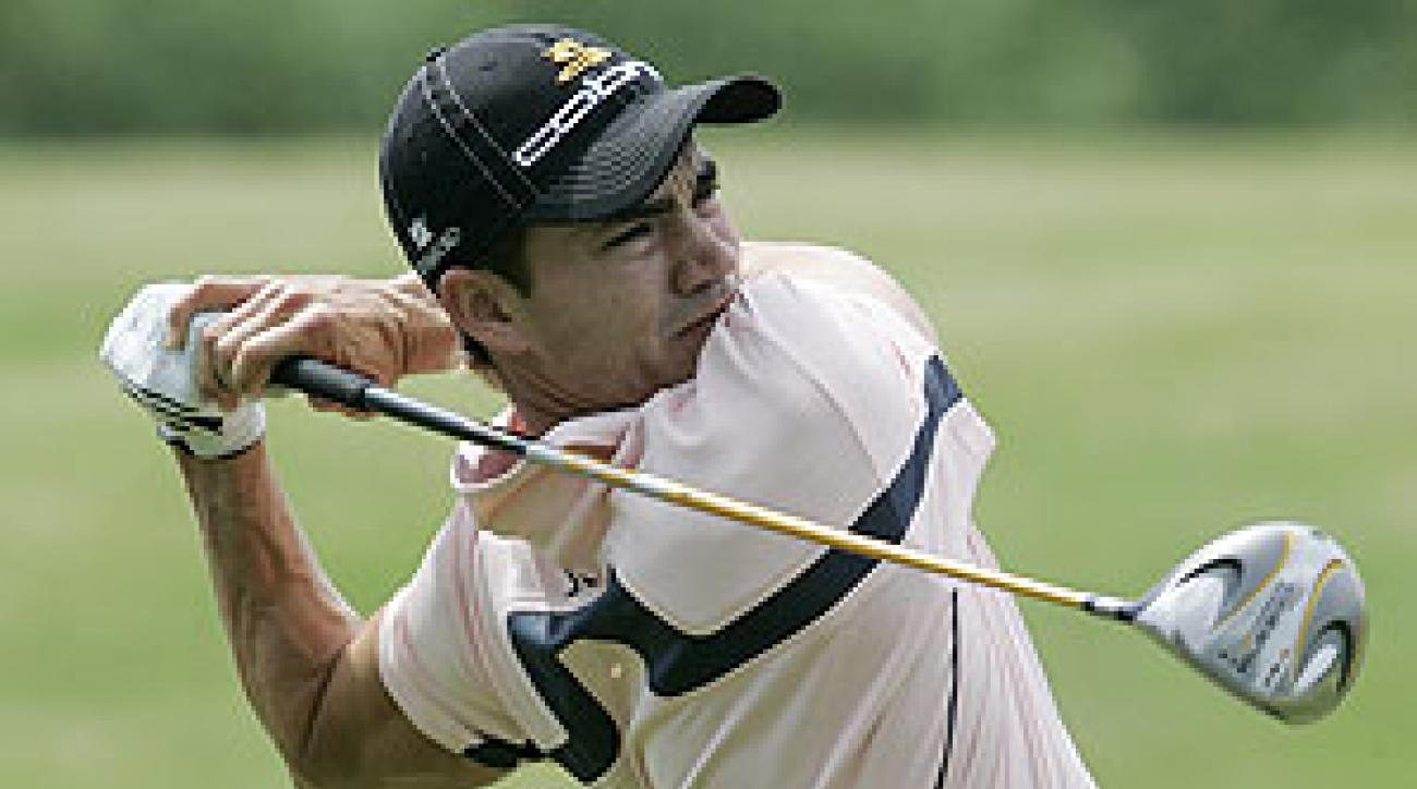 Last year, Villegas played with Scott Hend and J.B. Holmes. They all average 300-plus yards per drive.