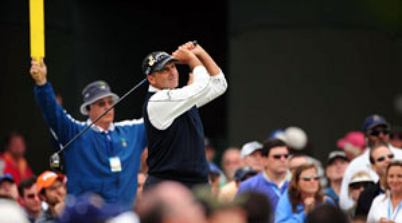 Rocco Mediate shot a one-over 72 on Saturday.