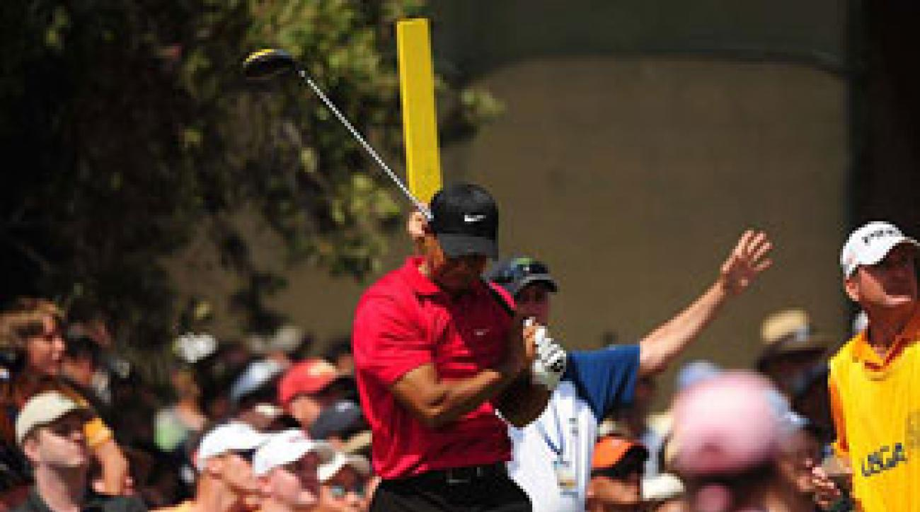 Woods was visibly struggling with the pain in his knee at the U.S. Open.