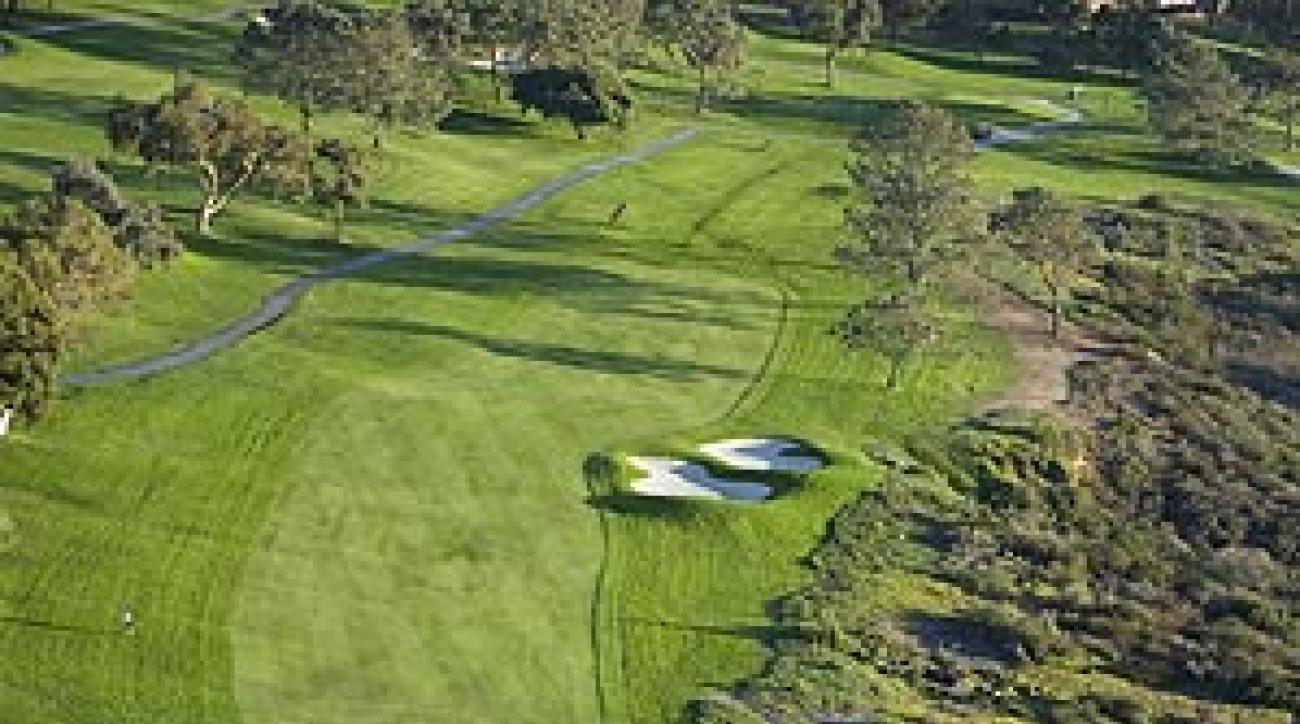The 14th, normally 430 yards, played at a tempting 267 on Sunday.