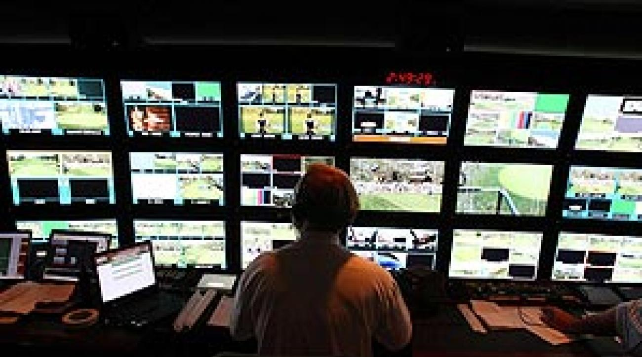 Through his choice of images, executive producer Roy controlled the U.S. Open story line.