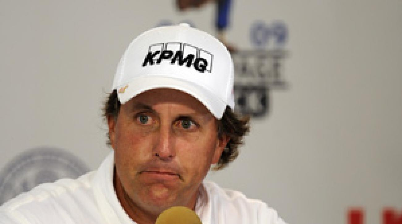 Phil Mickelson met with the media Wednesday morning at the U.S. Open.