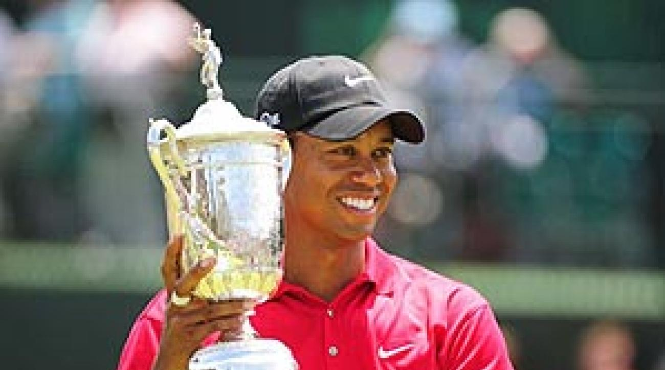 Tiger Woods at the 2008 U.S. Open