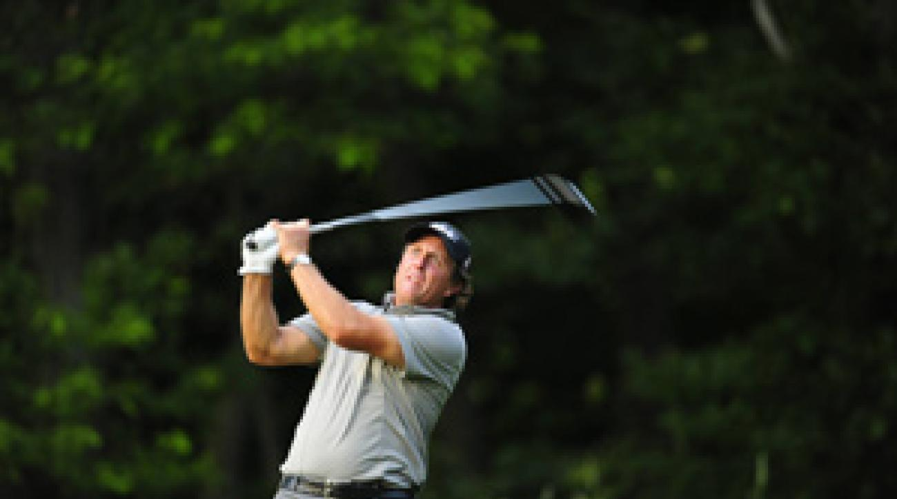 Phil Mickelson played 29 holes on Friday.