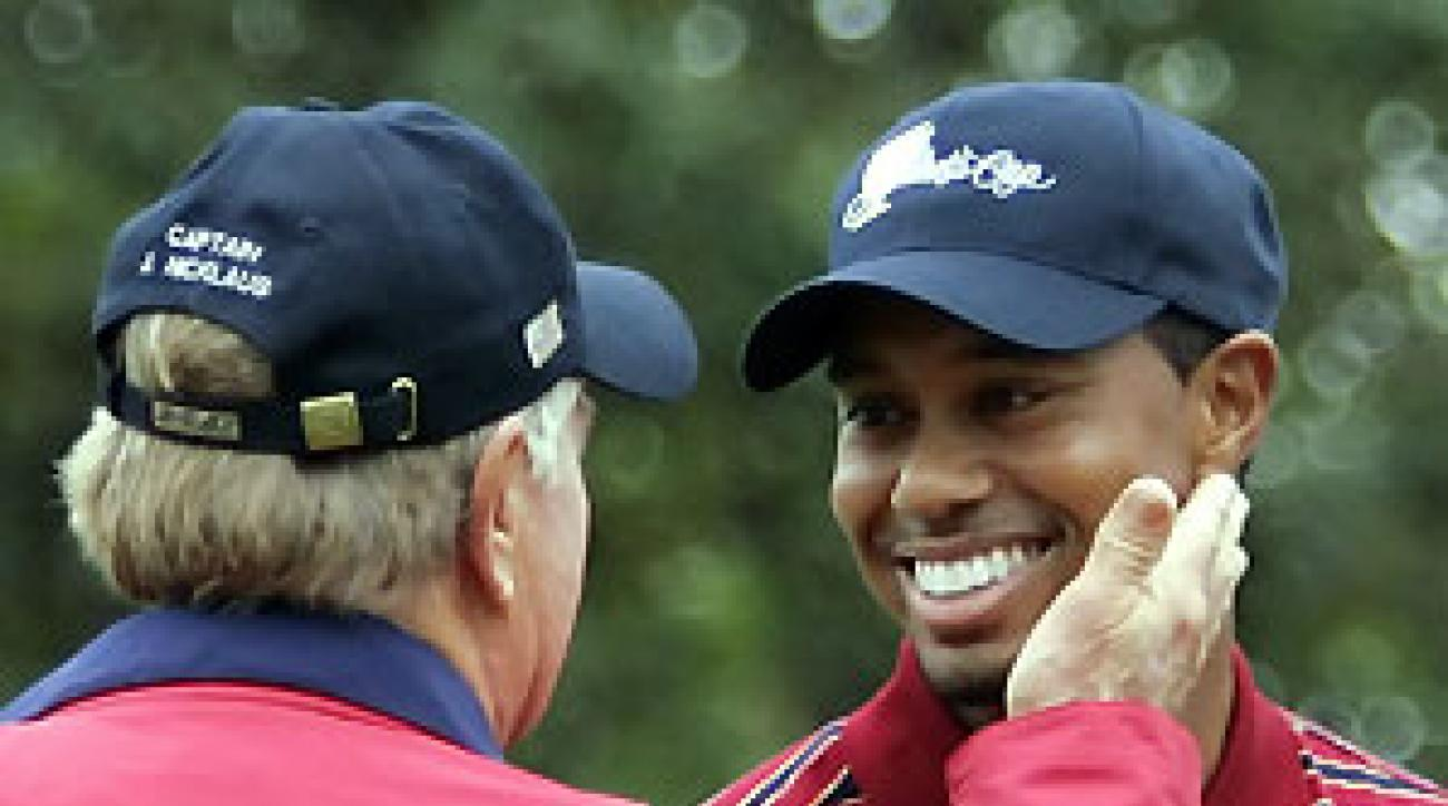 """""""To have a will as strong as that, I take my hat off to him,"""" Jack Nicklaus said of Tiger Woods."""
