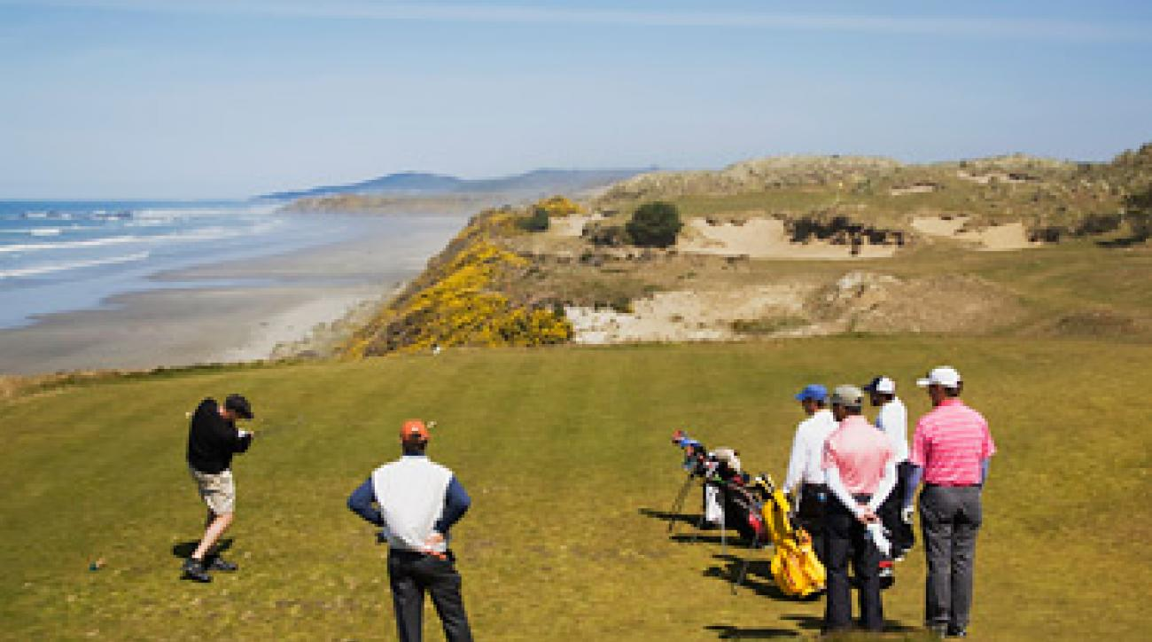 HIT AND RUN: Thirty-six-hole days are common at Bandon. So is a brisk pace.