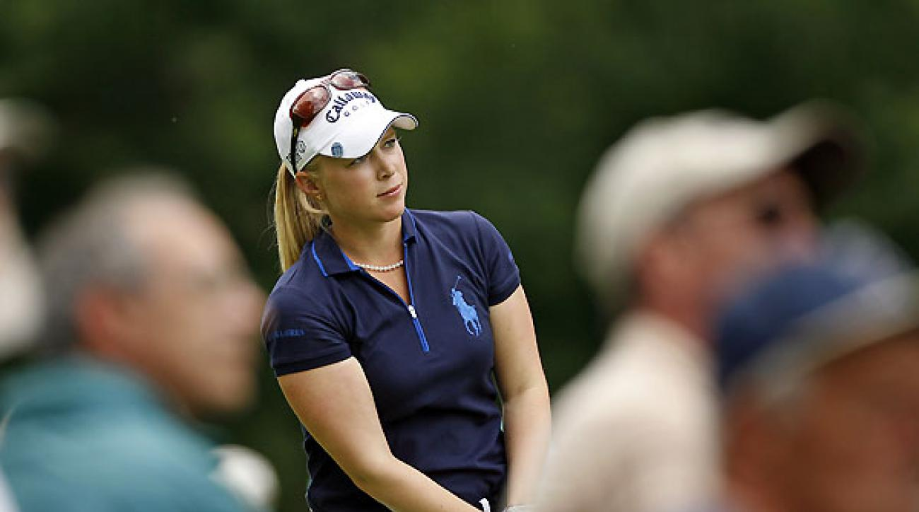 <strong>Second Round of the Wegman's LPGA</strong><br /><br />Morgan Pressel leads by one after a seven-under 65. Pressel has yet to make a bogey this week.