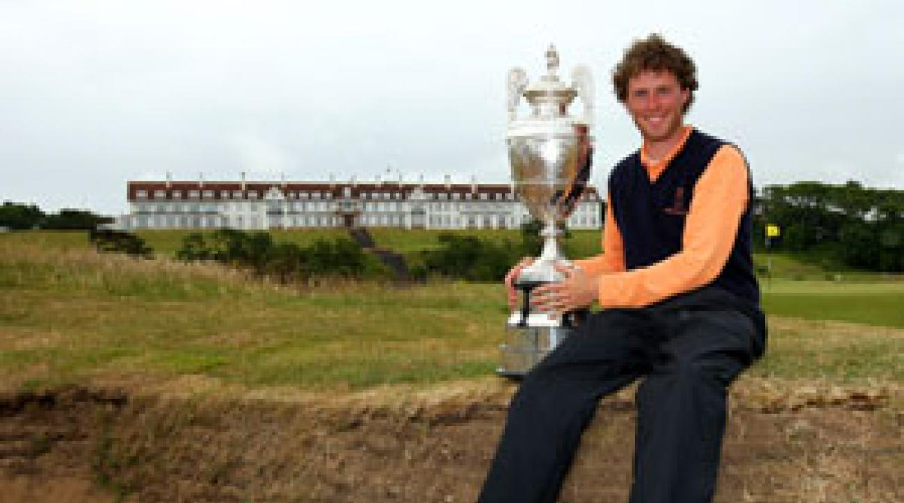 Reinier Saxton of the Netherlands won the British Amateur Championship Saturday.
