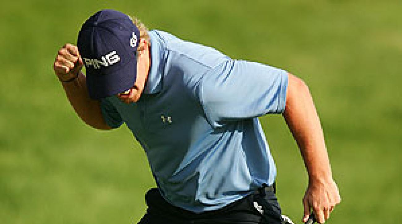 Hunter tied for fifth at the Shell Houston Open in April.