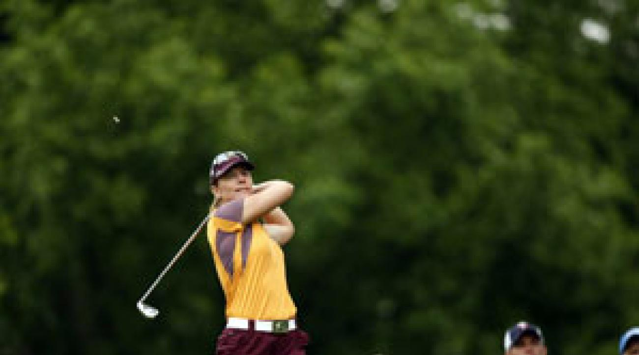 Sorenstam made five birdies and two bogeys.