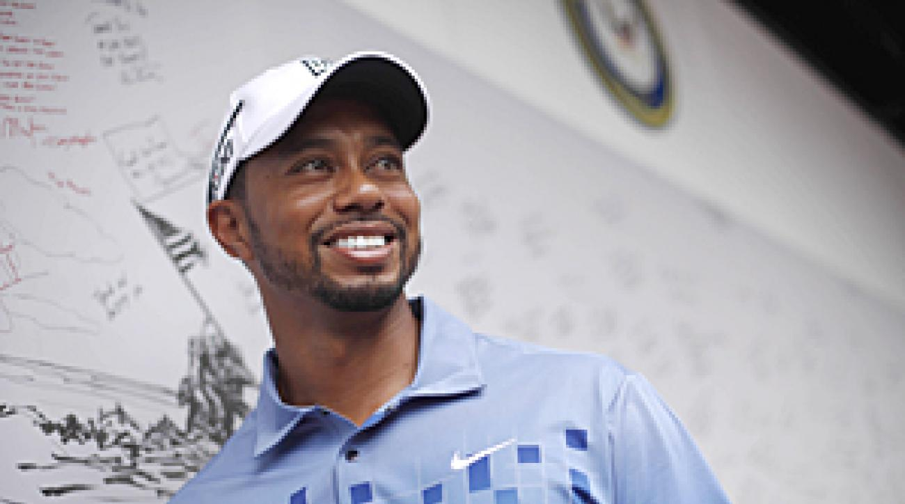 Tiger Woods is hosting, but not playing in, the AT&T National event this week.