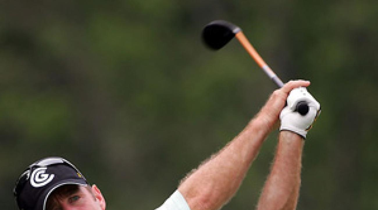 Rod Pampling built a three-shot lead Saturday with a four-under 32 on the back nine.