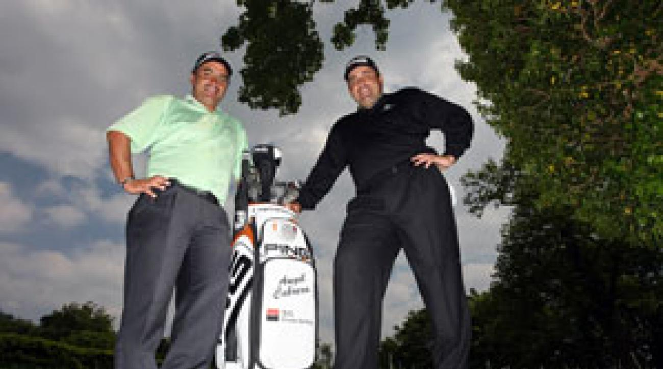 Bartolome (left) helped Cabrera maintain his tempo and balletic footwork at Oakmont.