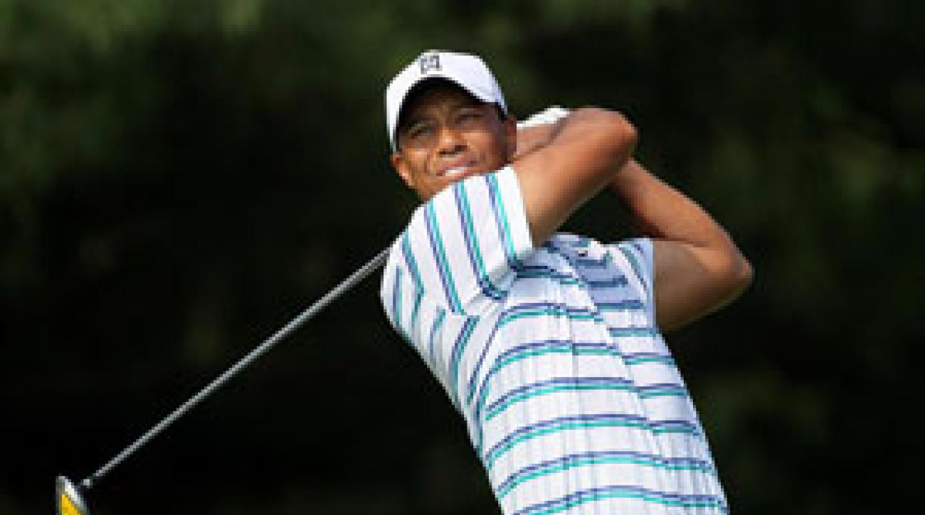 Tiger Woods made six birdies and three bogeys on Friday.