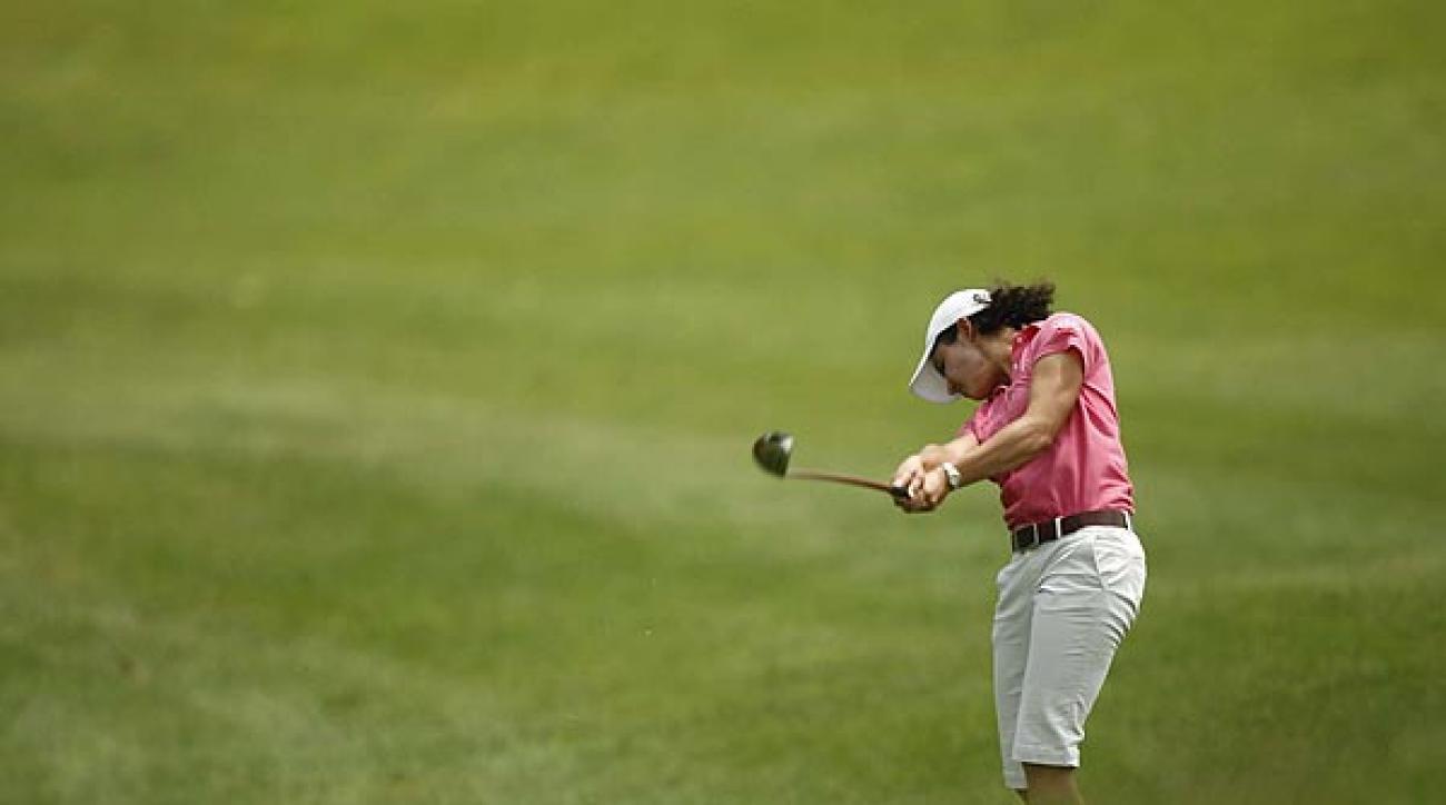 Lorena Ochoa shot 69 in her first round.