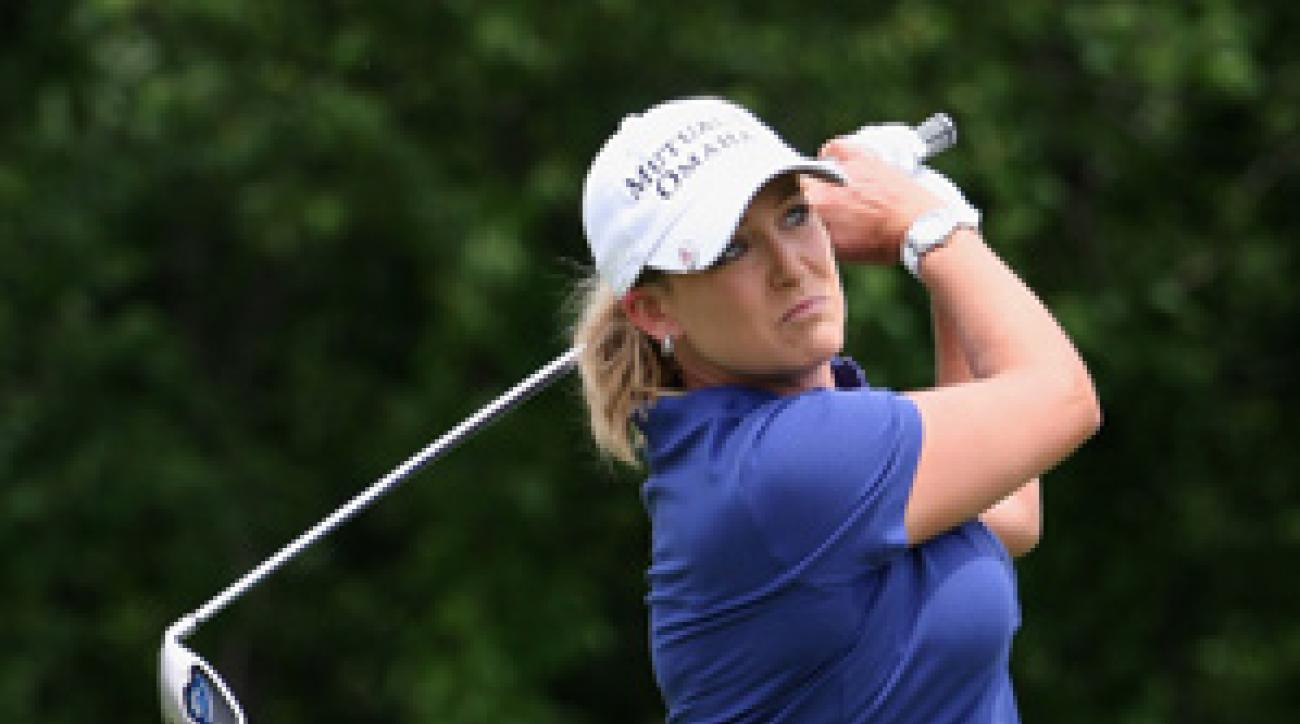 Cristie Kerr's round included an eagle on No. 1.