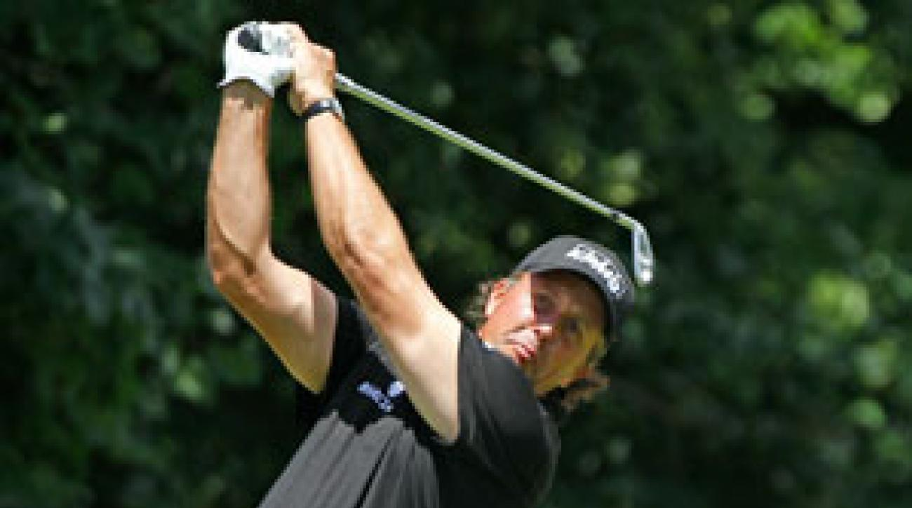 Phil Mickelson hasn't finished in the top 10 at the British Open since 2004.