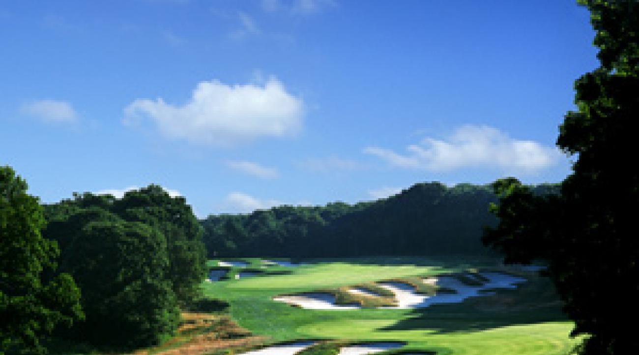The 517-yard, par-5 4th hole at Bethpage Black.