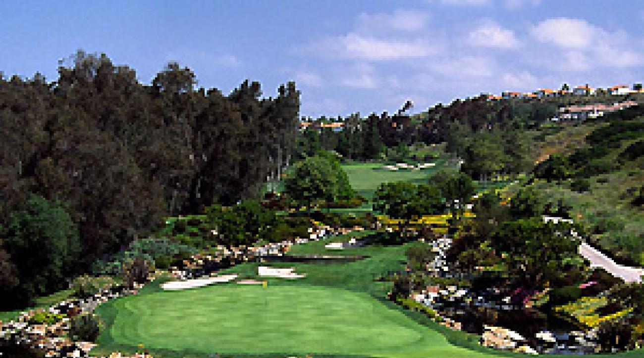 Palmer's pond: The 149-yard third hole at Aviara Golf Club.