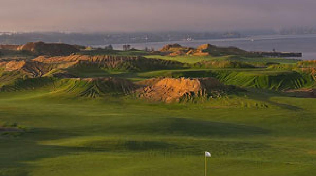 Coast of utopia: The 11th hole at Chambers Bay.