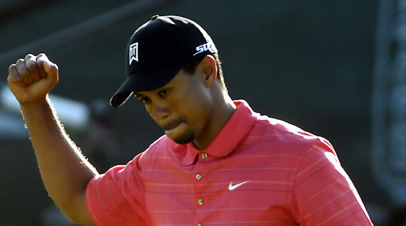 """<p><strong>Win 5: No Way, Jose!</strong><br />                                  Woods' final-round 72 in '06 left him """"very lucky"""" to make a playoff with Nathan Green and Jose Maria Olazabal. Olly missed a four-footer to hand Tiger the trophy.</p><p>                                  <strong>TIGER WOODS:</strong> [on Olazabal's missed putt]: """"You don't ever take joy out of seeing friends do that.""""</p><p>                                  <strong>NATHAN GREEN:</strong> """"He plays the South just as well as he plays the North. Every course suits him, but [the South] more than most because he's such a good long-iron player. And he seems to putt well on those greens.""""</p><p>"""