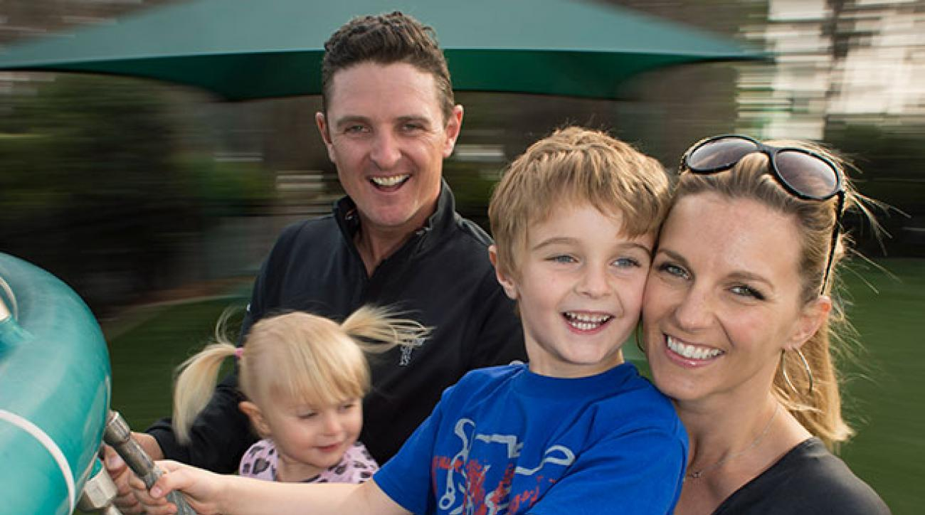 Rose at his Orlando home with wife, Kate, daughter Charlotte (aka Lottie), 2, and son Leo, 5.