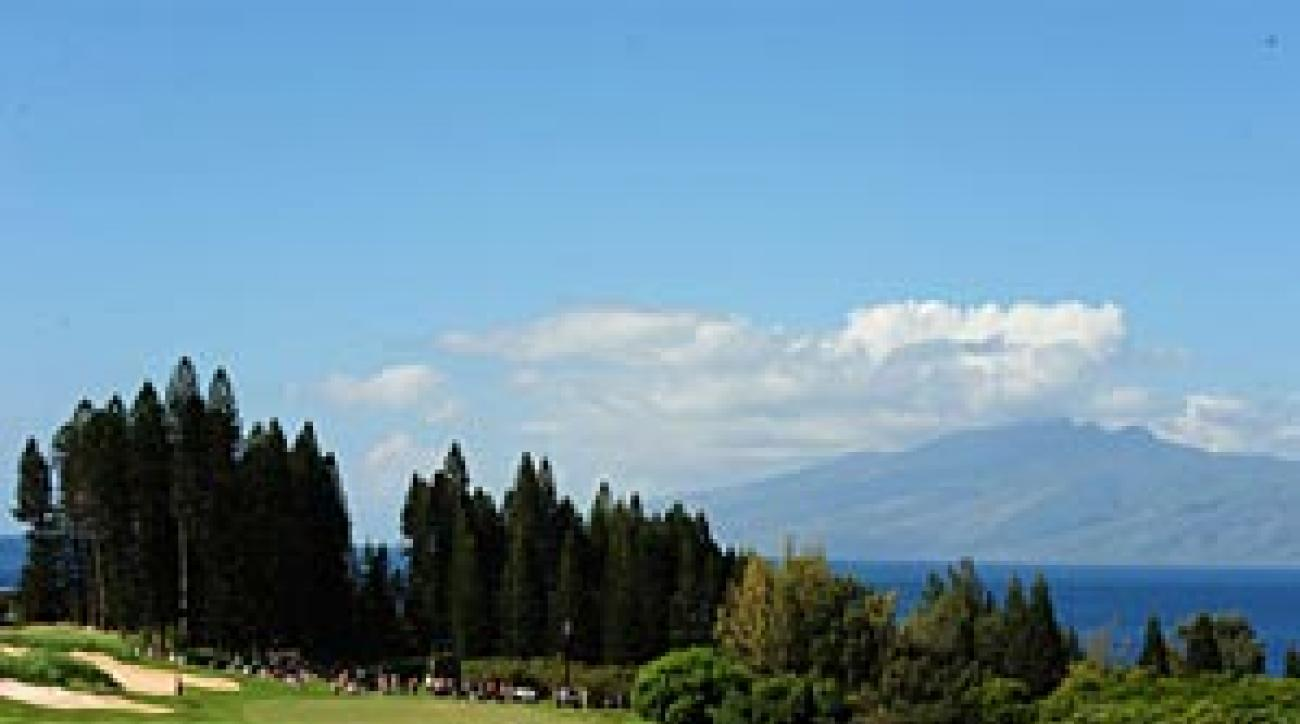 "Players praised the scenic Plantation course at Kapalua. ""It's simply a                 fun, fun course,"" said Zach Johnson."