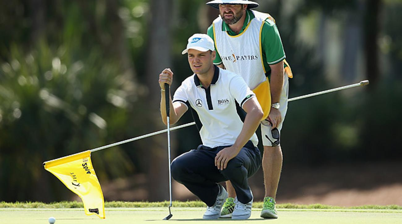 Martin Kaymer birdied his last four holes to take the lead.