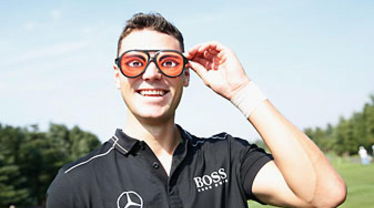 Martin Kaymer goofs around at the HSBC Champions pro-am on Wednesday in Shanghai.