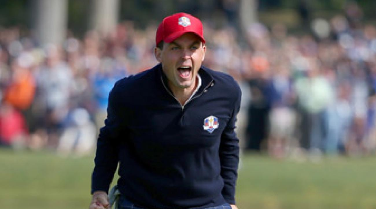 Keegan Bradley helped the U.S. secure a point on Friday morning.