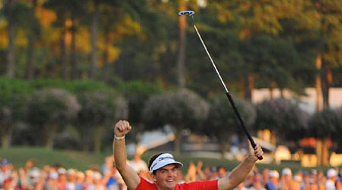 Bradley won the 2011 PGA Championship at Atlanta Athletic Club.
