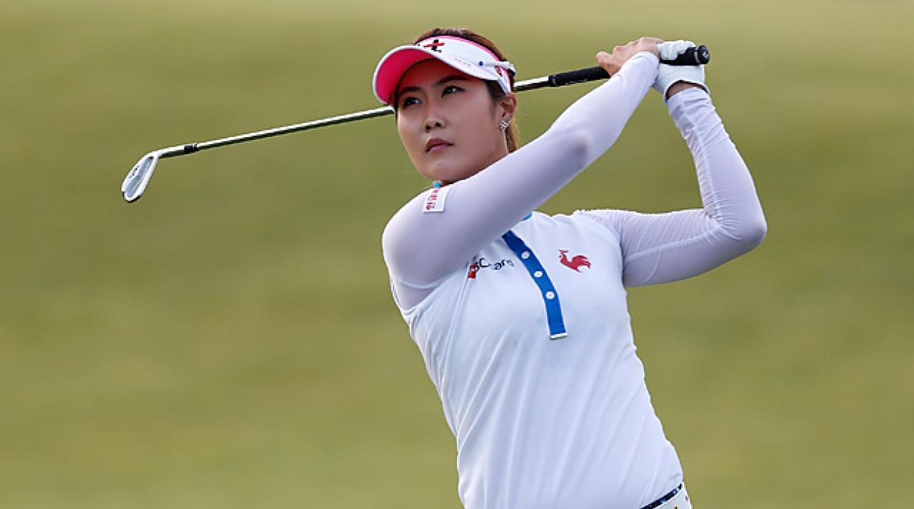 Ha-Neul Kim shot an impressive six-under 66 to take the lead.