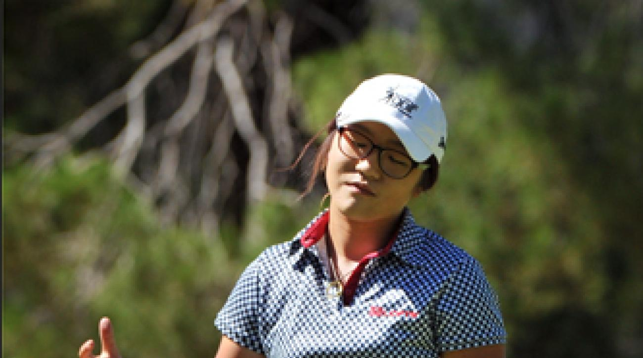 Lydia Ko misses a putt during the final round of the Women's Australian Open on Sunday.