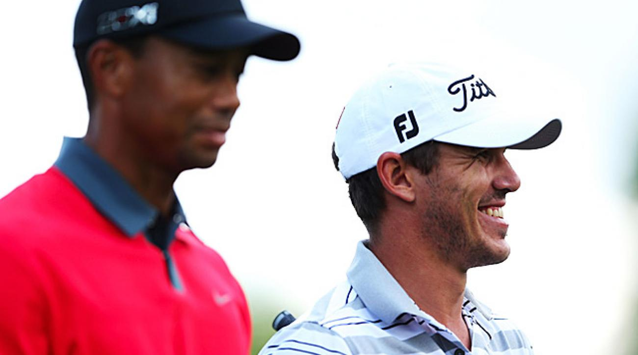 Tiger Woods and Brooks Koepka were paired together on Sunday.
